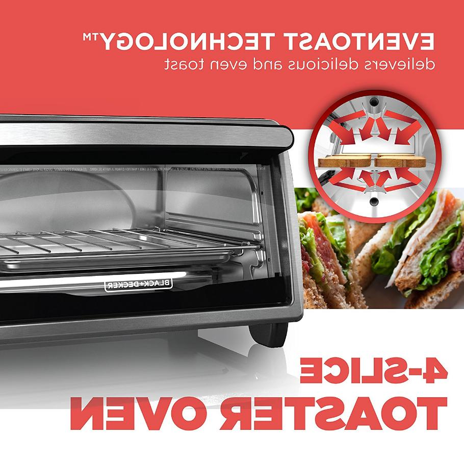 Black And Electric Kitchen Broil 4 Slice Stainless Steel