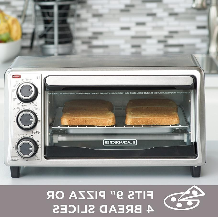 Black And Electric Kitchen Oven 4 Slice Stainless