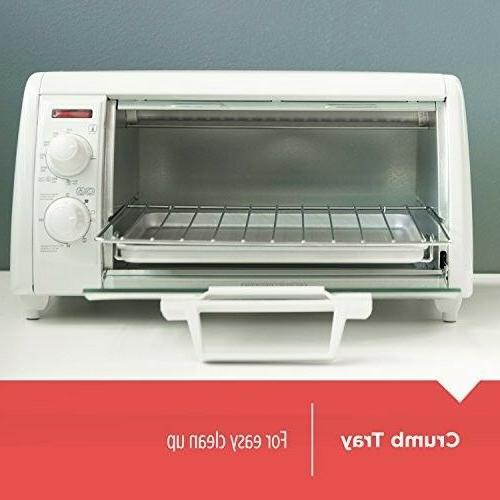 BLACK+DECKER 4-Slice Toaster Oven, White,
