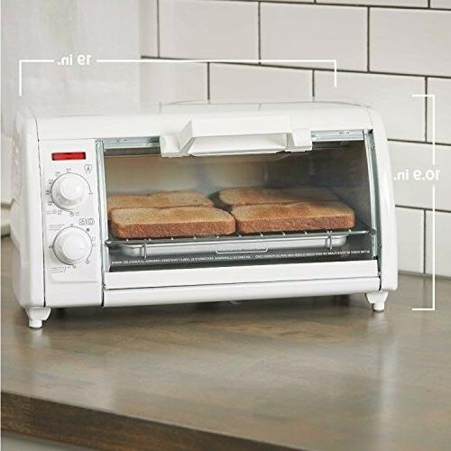 BLACK+DECKER 4-Slice Toaster White,
