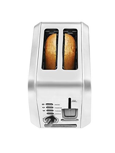 Wide w/ Bagel, Defrost, and Shade Settings Toasts More Stainless - RJ31-SS-AM