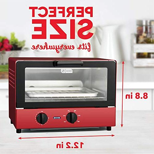 Dash Cooker Bread, Cookies, & More Rack Off Feature Red