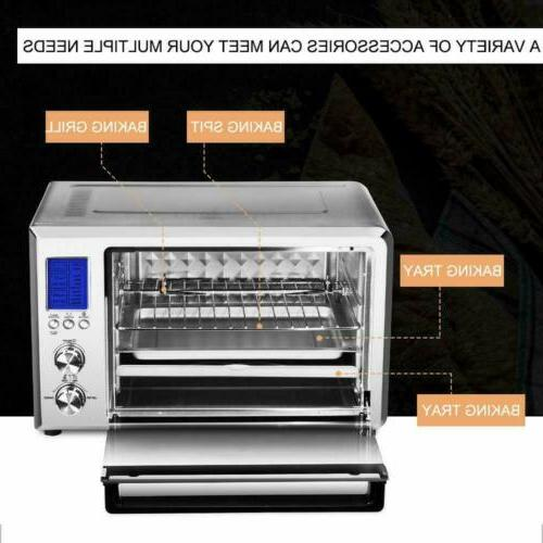 Convection Toaster Oven 6 Slice Stainless Steel  LCD Display