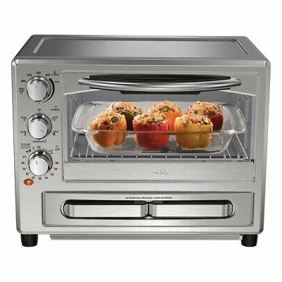 convection oven with pizza drawer silver