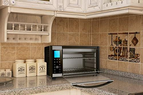 Emerson Convection & Rotisserie Countertop Oven, 6-Slice, Stainless Steel, Control Panel,
