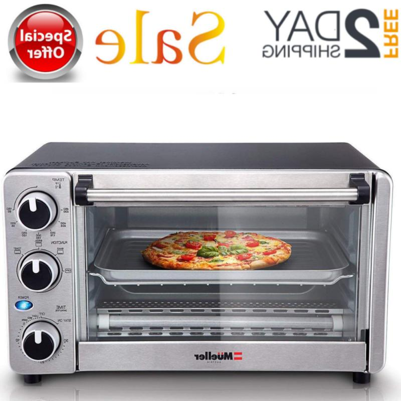 convection toaster oven 4 slice stainless steel