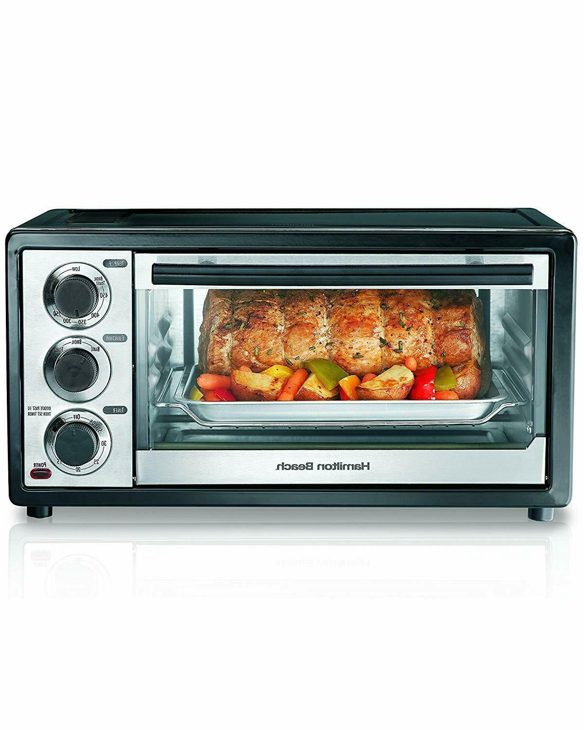 convection toaster oven 6 slice brushed stainless