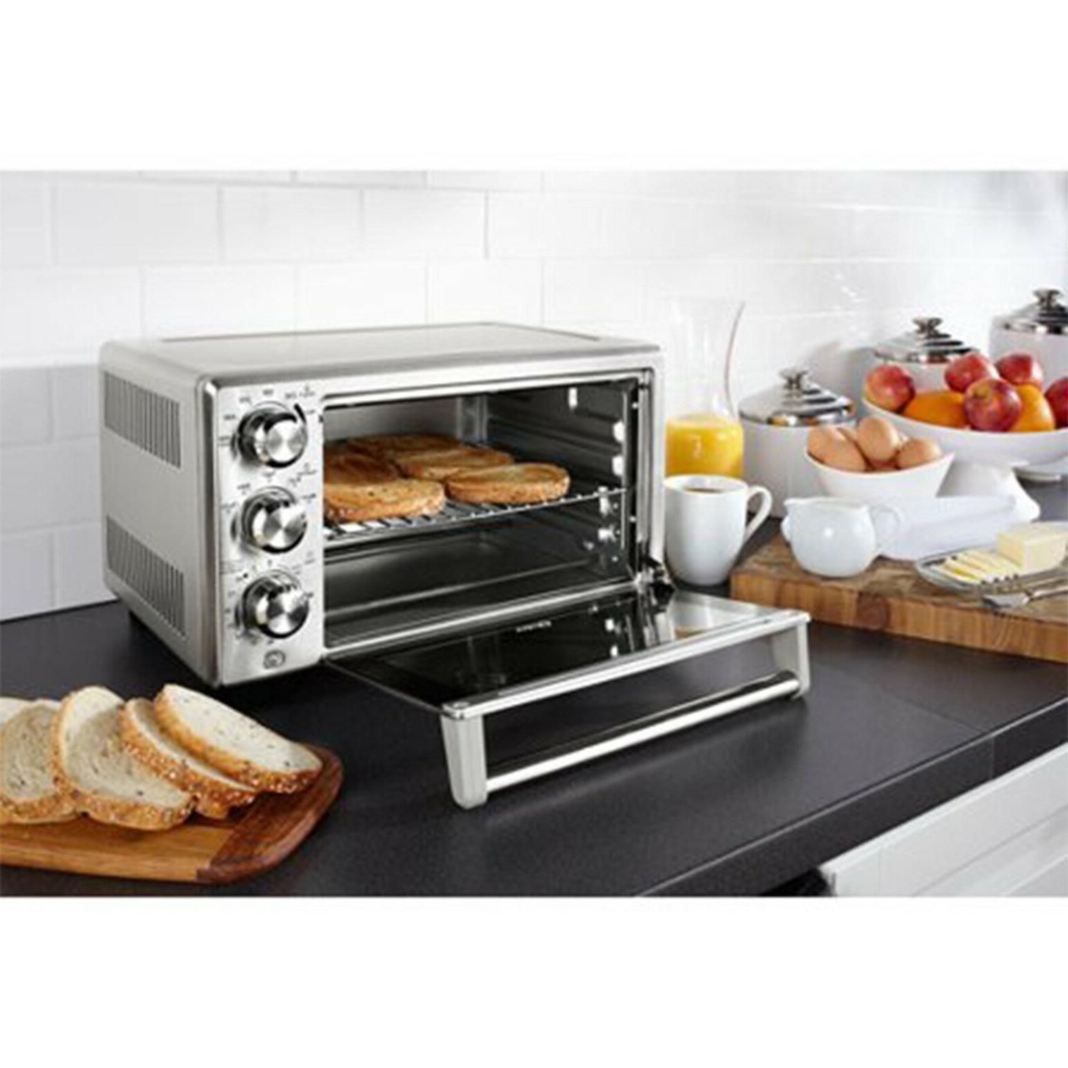 Convection Toaster 6 Slice Brushed Stainless Steel Family-Size Cook