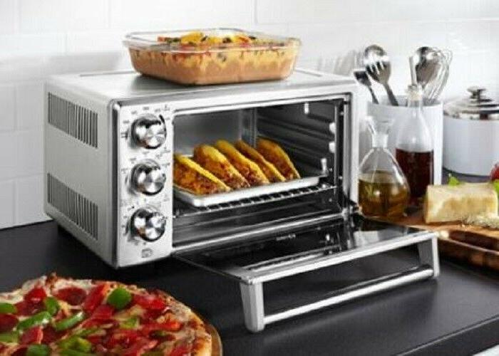 Convection Toaster Oven Brushed Stainless Steel Pizza Cook