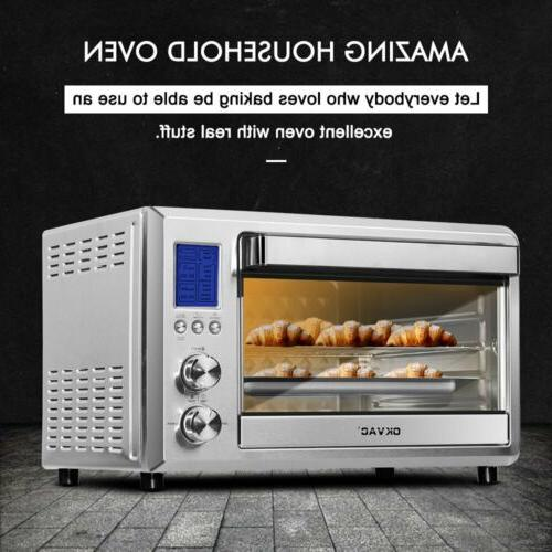 Convection Toaster Oven Stainless Steel 6 Slice Counter top
