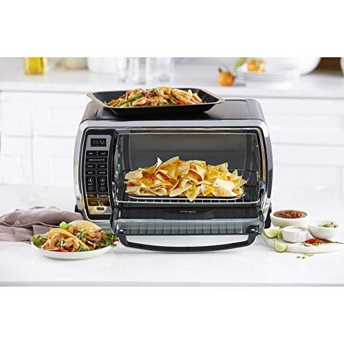 Oster Digital Convection Toaster Oven, Slice, Black/Polished