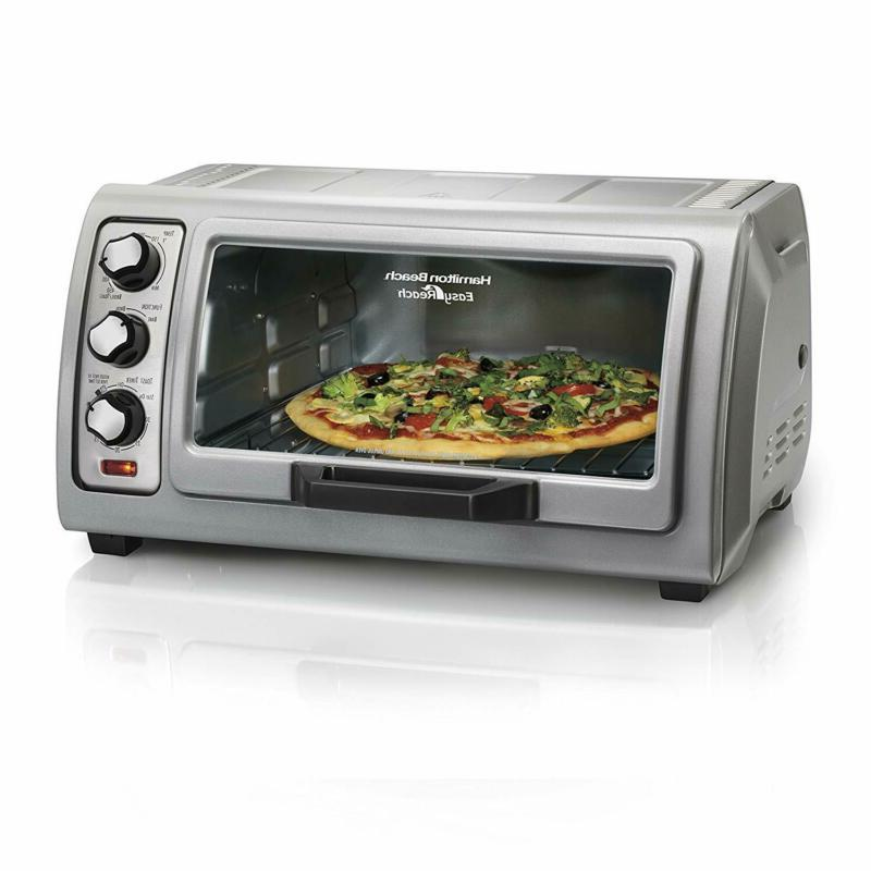 countertop toaster oven easy reach with rolltop