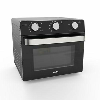 countertop toaster oven with air fryer black