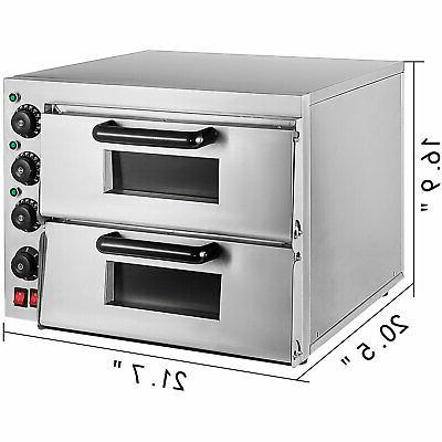 Electric 3000W Pizza Double Deck Bake