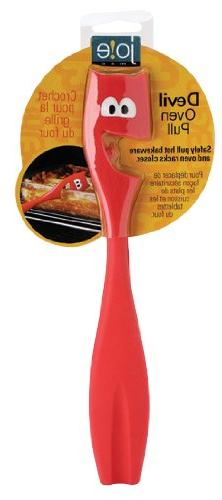 Joie Silicone Devil Oven and Toaster Rack Puller, Red