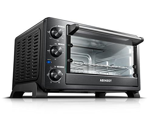Toshiba oven with Convection/Toast/Bake/Broil 25 L Slices Pizza Black Stainless