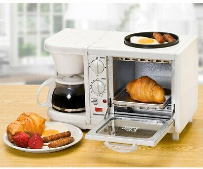 NEW•Elite Cuisine•3-in-1•Multifunction Breakfast Delux