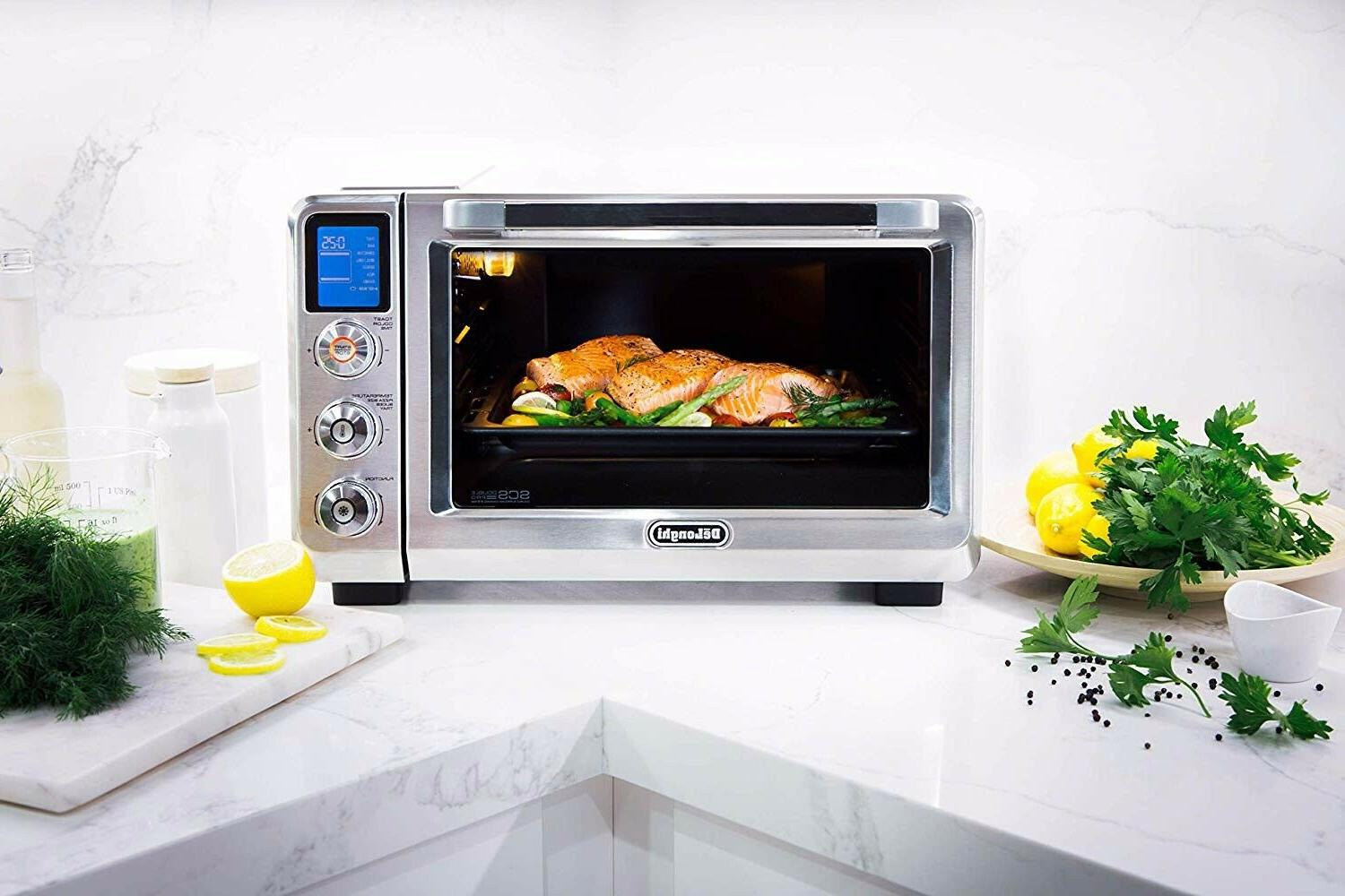 NEW DeLonghi Livenza Stainless Digital Oven