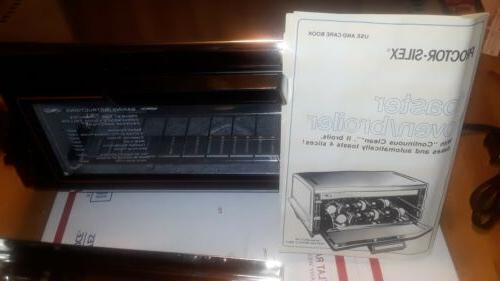 NEW VINTAGE TOASTER BROILER 0219B MANUAL