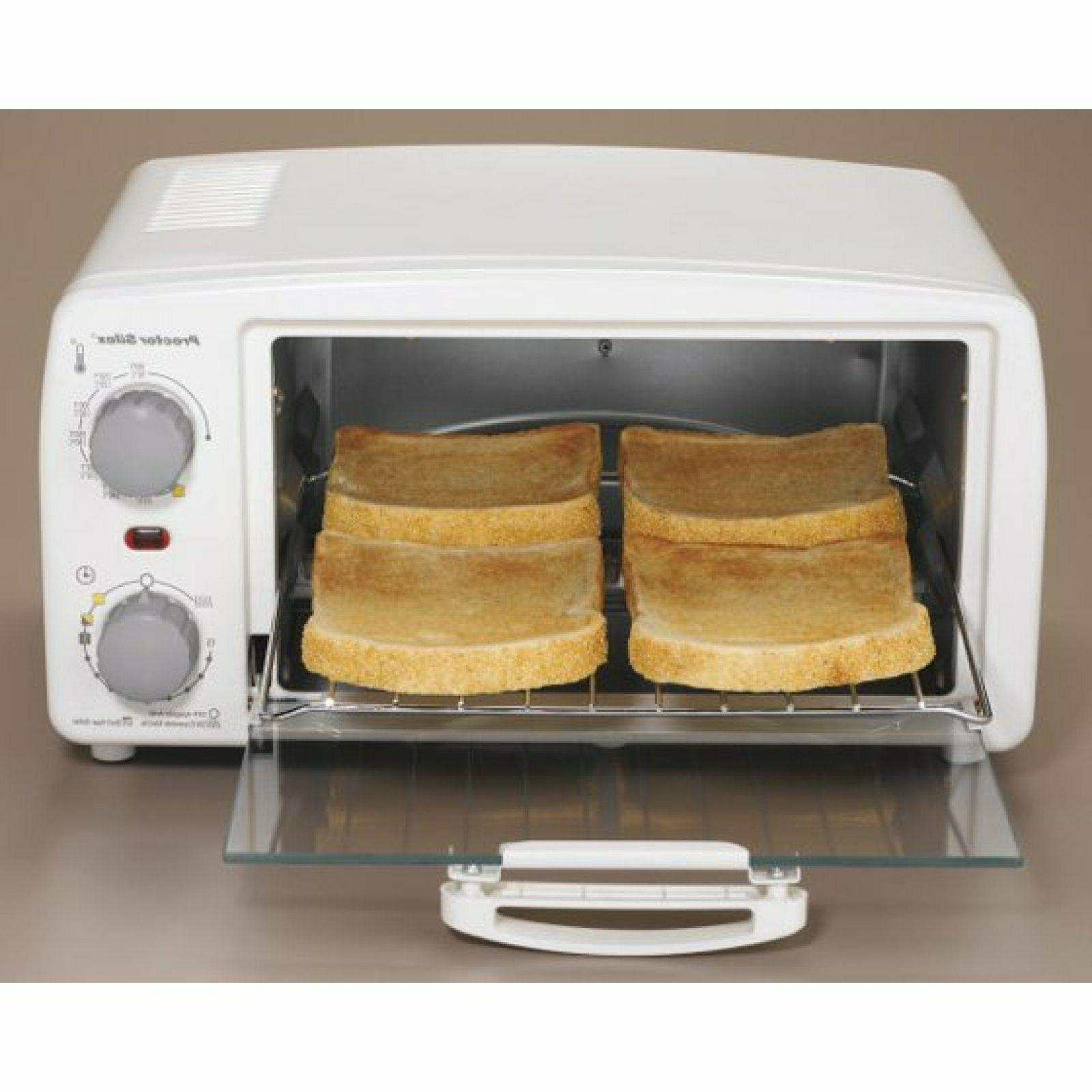 Proctor Silex Toaster Oven And Broiler Mode # 31116R White Extra-Large