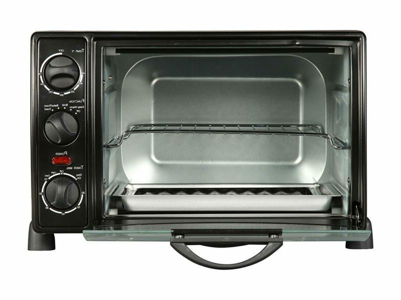 New Toaster Oven Broil 6 Slice Slice 12  Pizza Bakeware Pan