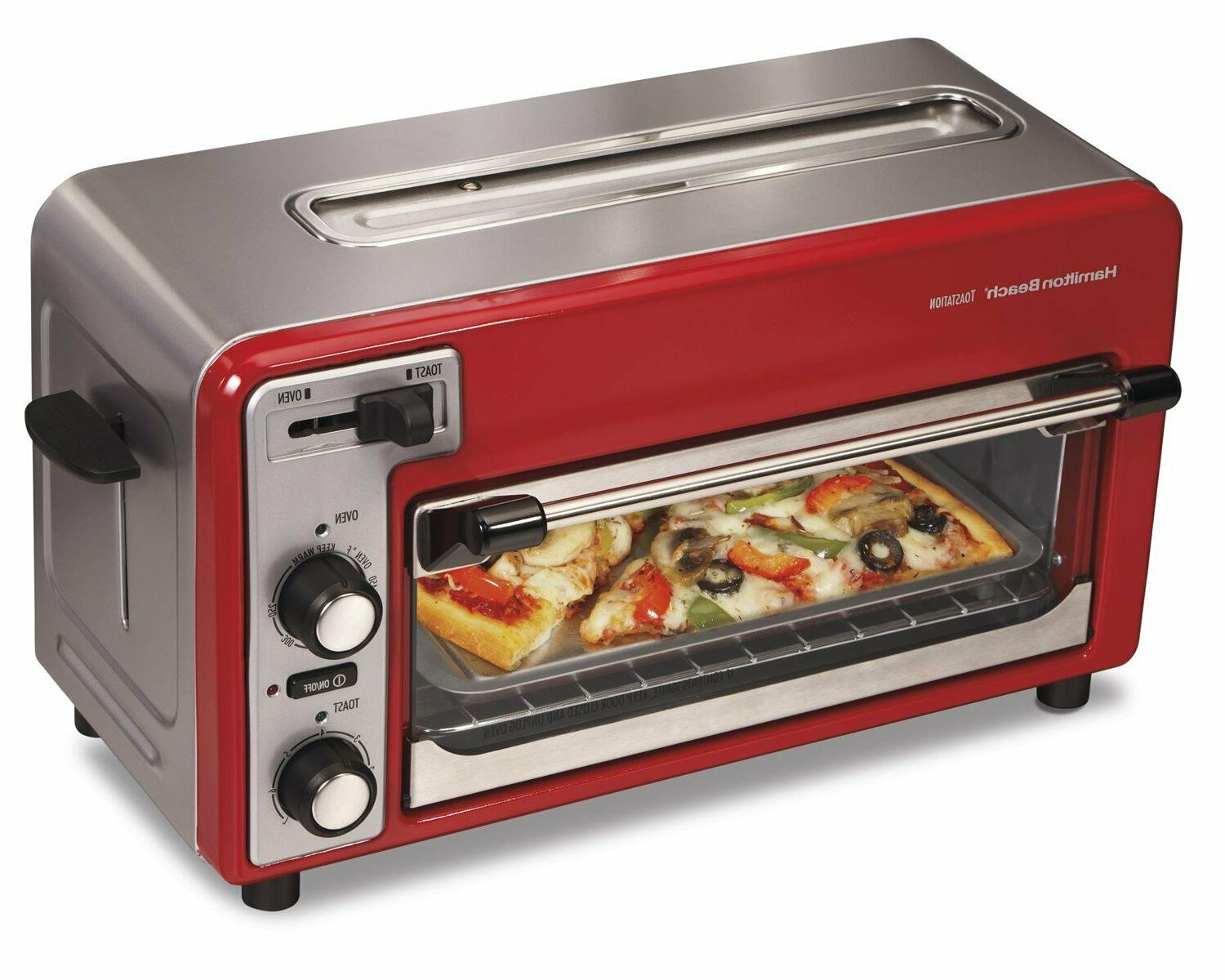 Small Kitchen Appliance Red Combination Toaster Slice Mini Oven