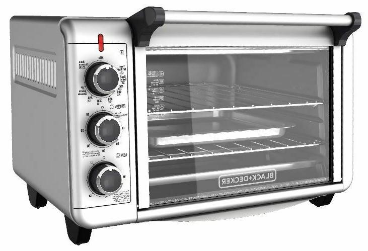 stainless steel convection countertop toaster oven baking