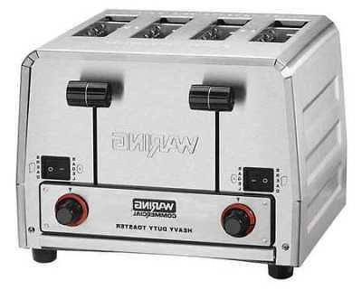WARING COMMERCIAL WCT850 Toaster,Gray,4 Slice