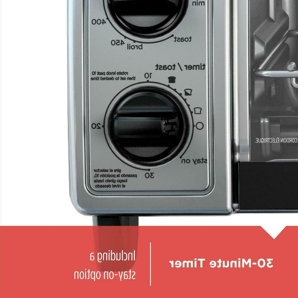 Toaster Oven Stainless Steel Temperature Control 4