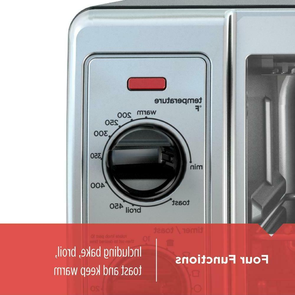 Toaster 4-Slice 1150W Stainless Steel with Control 4 Functions