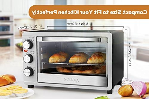 Toaster Oven Toaster SpeedBaking, Toast/Bake/Broil Function Heating Elements Intuitive Easy-Reach Toaster Steel Toaster Oven,