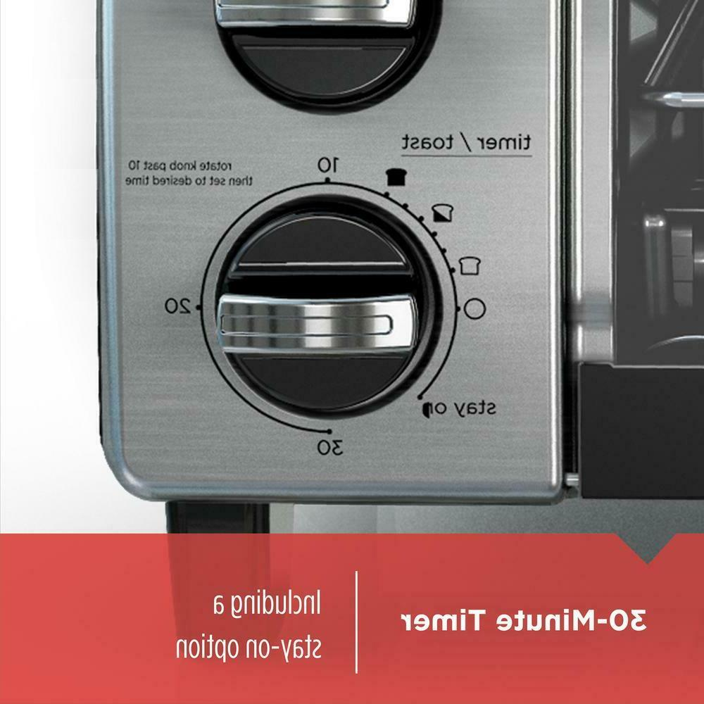 4-Slice Convection Oven 1150W with Timer 30 Min