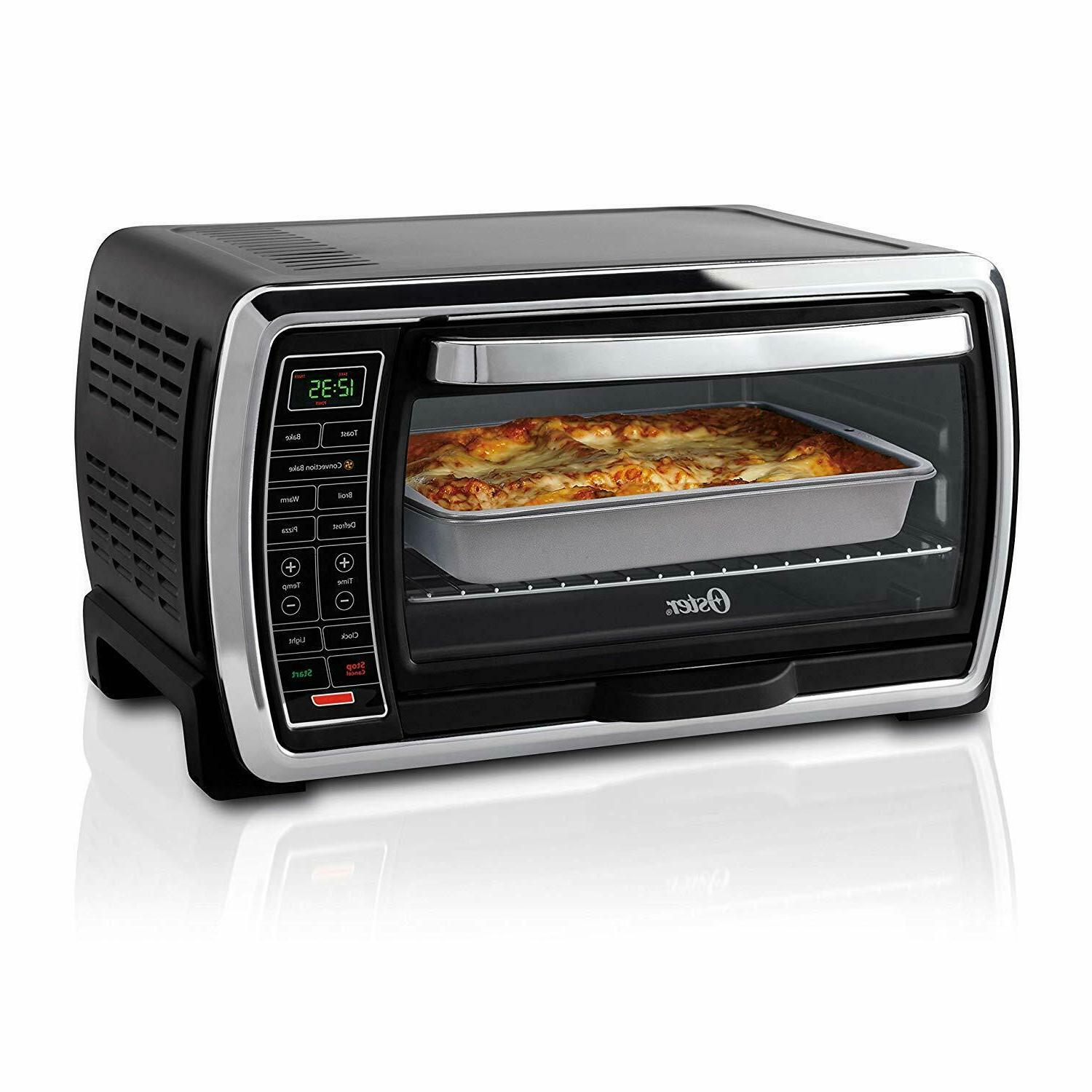 large digital countertop convection toaster oven black