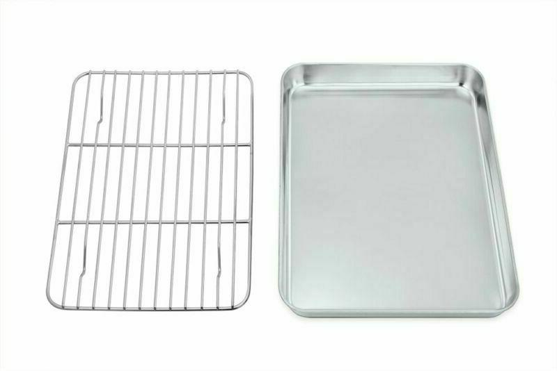 toaster oven tray and rack set stainless