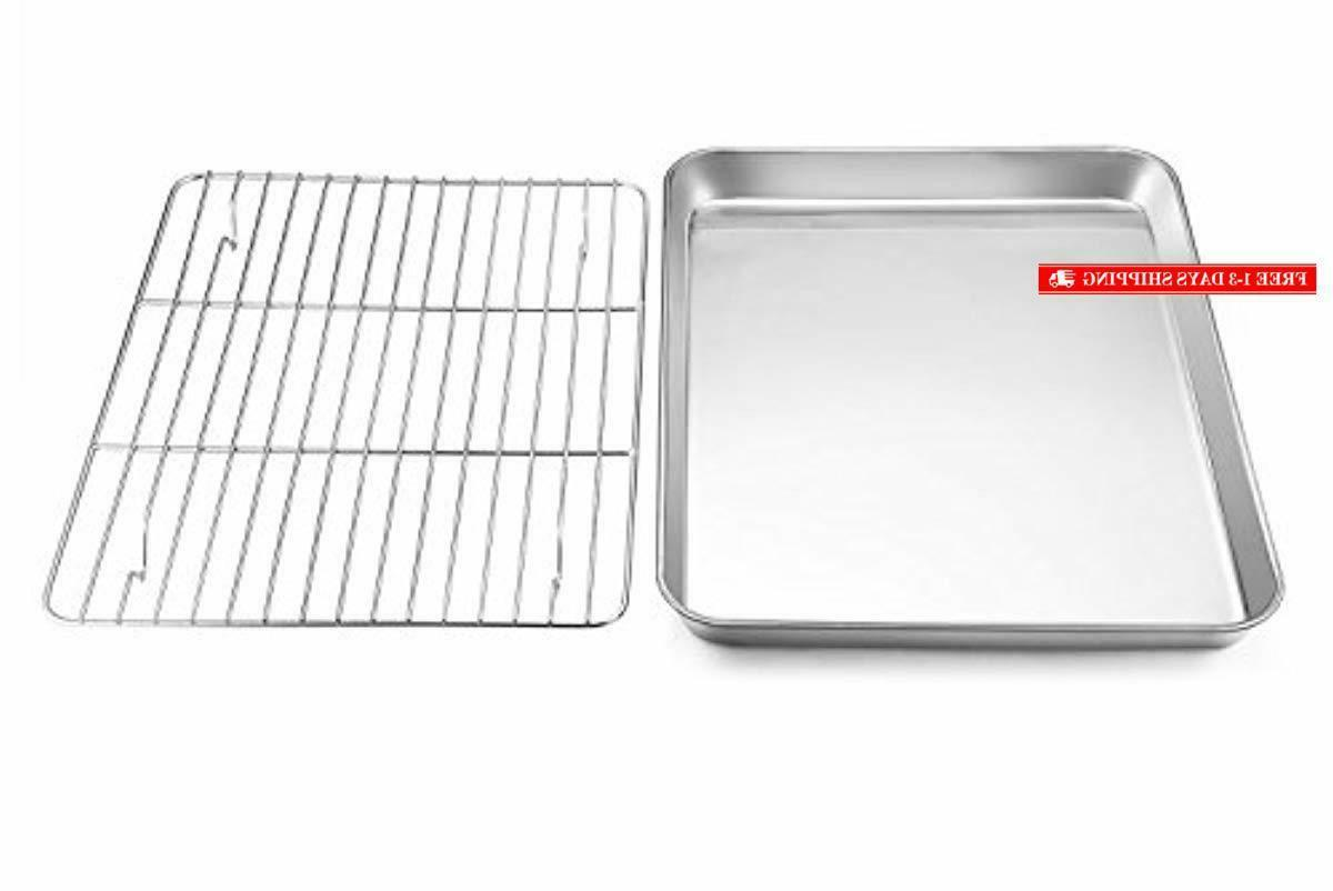 toaster oven tray with rack set e