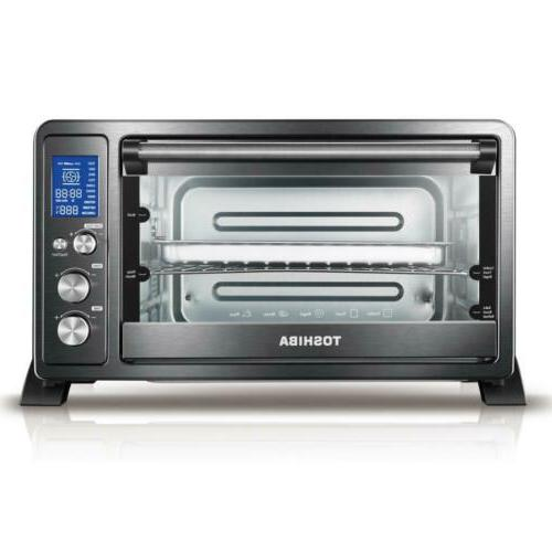 toshiba ac25cew chbs convection toaster oven black