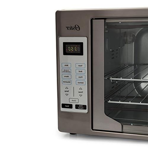Oster Black Stainless Steel Collection Oven, Extra