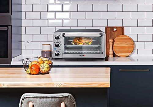 Toaster Slice, Multi-function Stainless with Timer - Toast - Bake Natural Watts Power, Includes Baking Pan by Mueller Austria