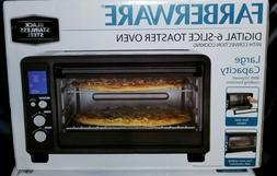 LARGE Farberware Convection 6 slice Toaster Oven -Black Stai