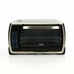 Oster Large Six-Slice Convection Toaster Oven, Black Polish