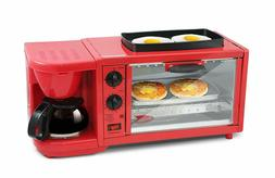 Maxi-Matic 3-in-1 Multifunction Breakfast Center, Red X-Larg