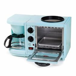 Maxi-Matic EBK-200BL Coffee Maker Toaster Oven Griddle 3-in-