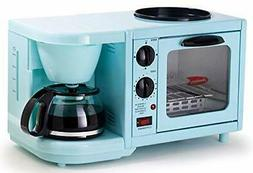 Elite Gourmet Americana Coffee Maker Toaster Oven Griddle 3-