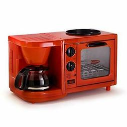 Maxi-Matic EBK-200R Coffee Maker Toaster Oven Griddle 3-in-1