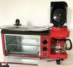 NEW Nostalgia 3 in 1 Breakfast Station~Toaster Oven~Cooking
