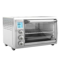New Black Decker No Preheat Toaster Oven Stainless