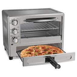 NEW Oster Convection Oven with Pizza Drawer - Silver