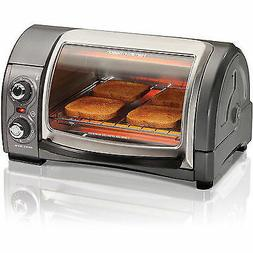 NEW Easy Reach 4 Slice Toaster Oven Hamilton Beach with Roll