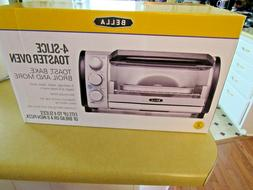NEW IN BOX Bella 4 Slice Toaster Oven Small Kitchen Applianc