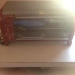 NEW RIVAL RED 6-Slice Electric Counter Top Toaster Oven with
